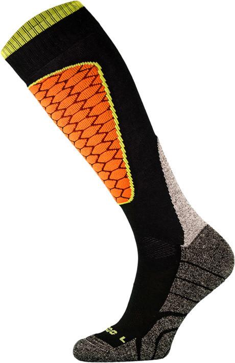 Black and Orange Performance Ski Socks