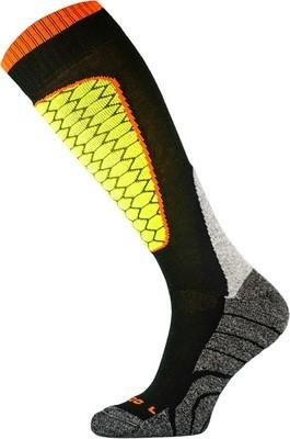 Black and Yellow Performance Ski Socks