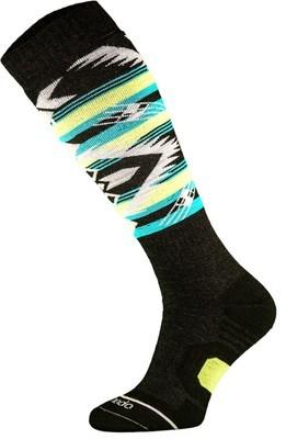 Black and Yellow Snowboard Socks