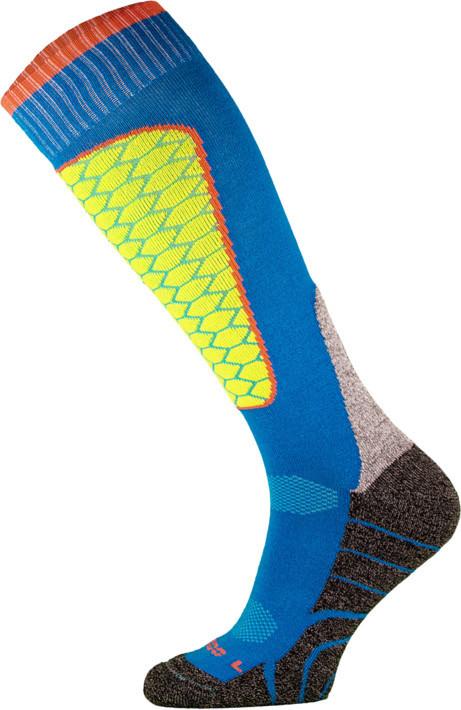 Blue and Yellow Performance Ski Socks