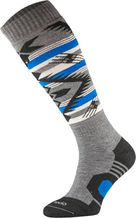 Grey and Blue Snowboard Socks
