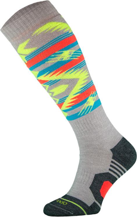 Grey and Neon Snowboard Socks