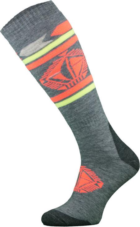 Grey and Orange Snowboard Socks