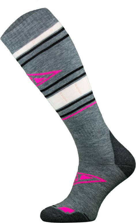 Grey and Pink Snowboard Socks