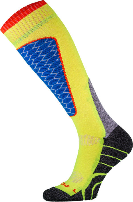 Yellow and Blue Performance Ski Socks