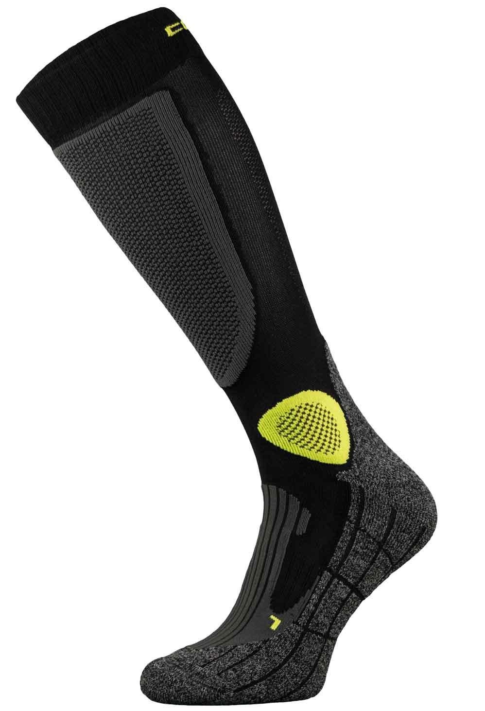 Black and Yellow Pro-Tech Motorbike Socks