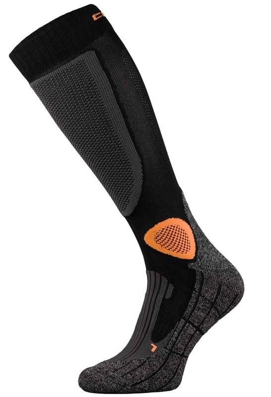 Black and Orange Pro-Tech Motorbike Socks