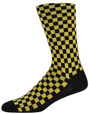 Nathan Yellow checked socks