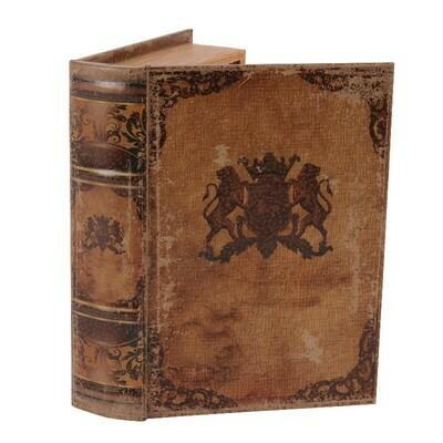 Boîte de livre Blason 23 cm