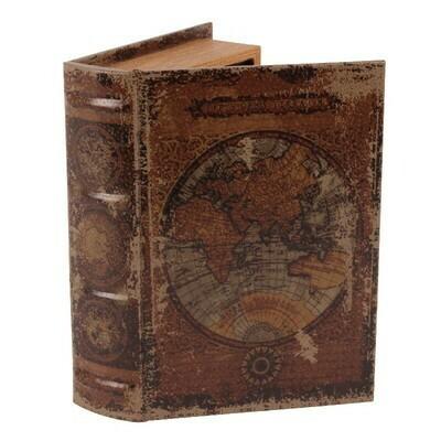 Boîte de livre Carte du monde 23 cm