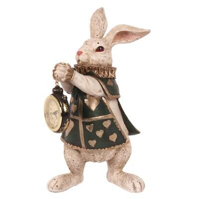Statue du lapin et sa montre