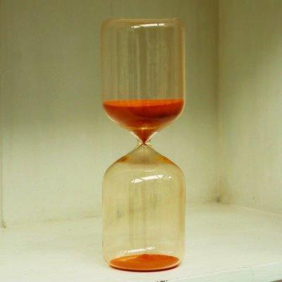Sablier sable orange