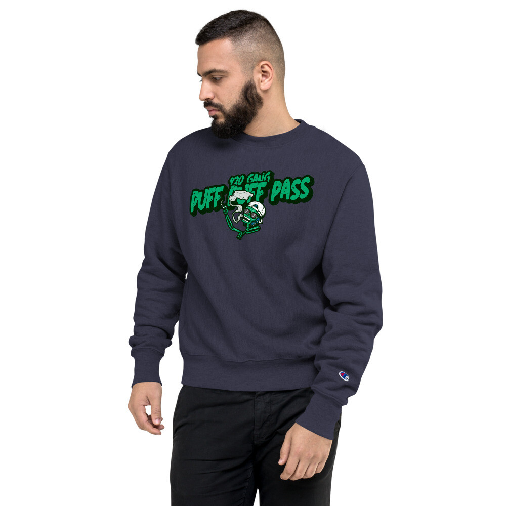 Puff Puff Pass 420 GangChampion Sweatshirt