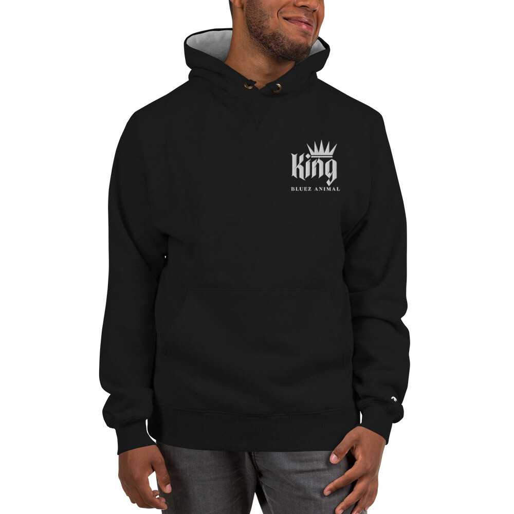 Bluez Animal King Embroidered  Champion Hoodie
