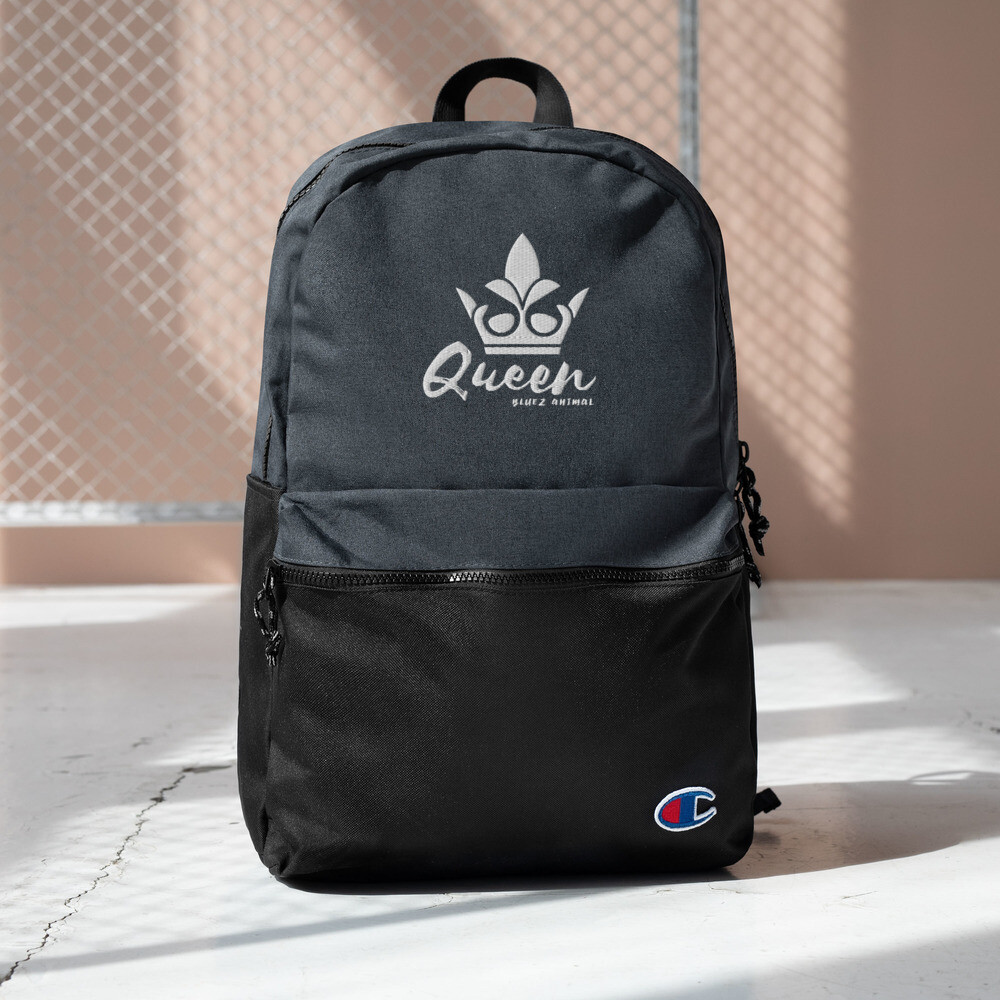 """Bluez Animal """"Queen"""" Embroidered Champion Backpack"""