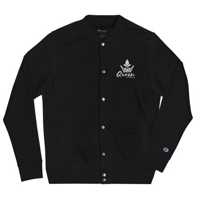 Bluez Animal Queen Embroidered Champion Bomber Jacket