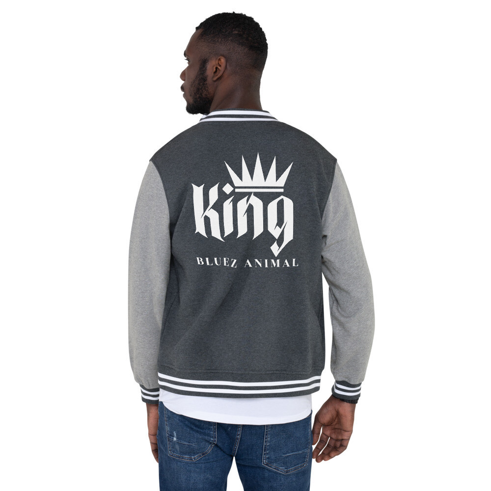 Bluez Animal King Men's Letterman Jacket