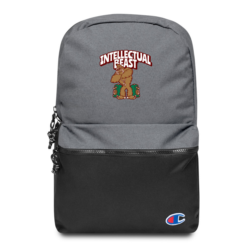 Bluez Animal Intellectual Beast Embroidered Champion Backpack