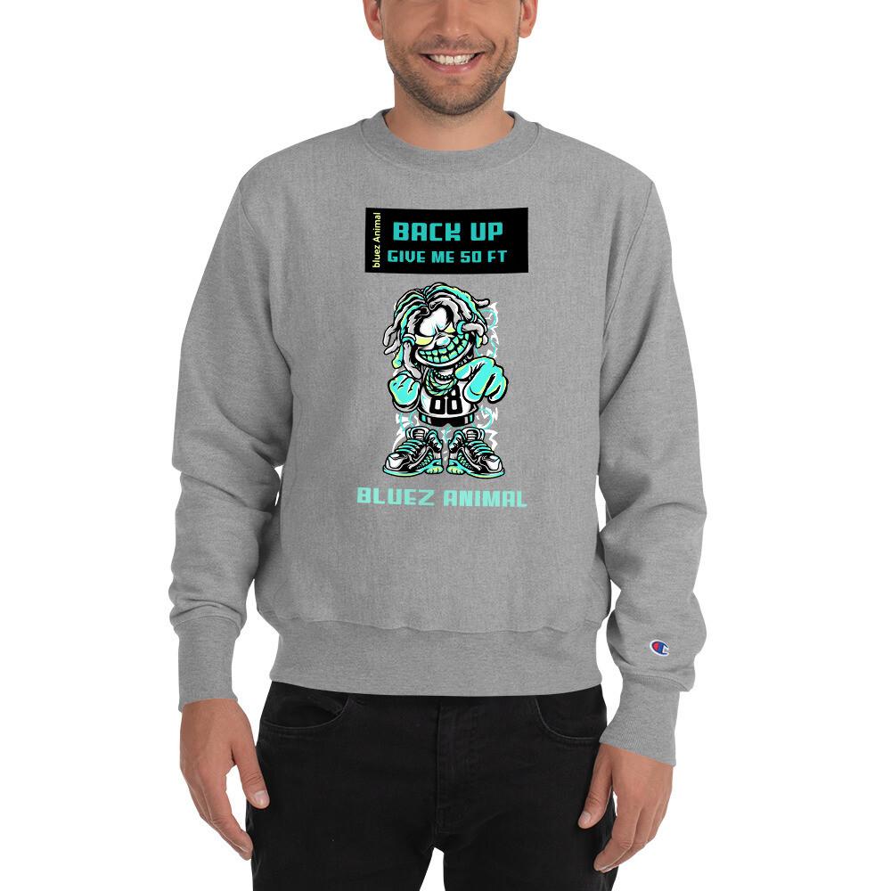 """Bluez Animal """"Back Up"""" Champion Sweatshirt"""
