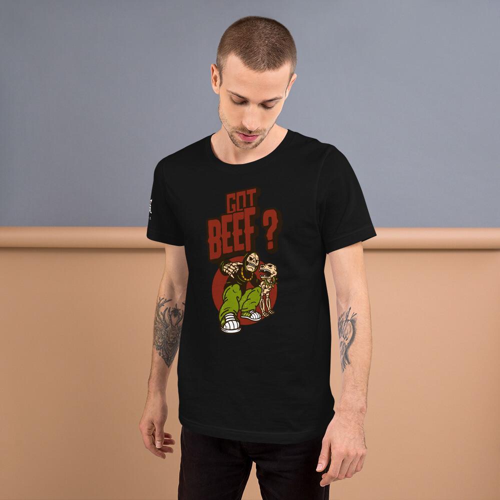 """ Bluez Animal Got Beef ""Short-Sleeve Unisex T-Shirt"