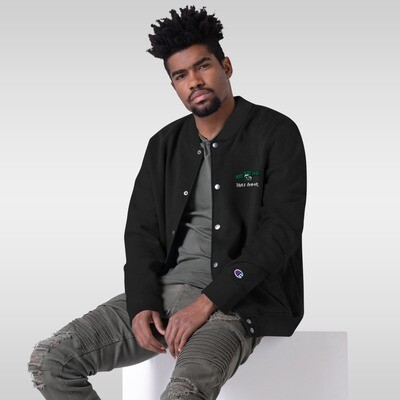 420 Gang Embroidered Champion Bomber Jacket