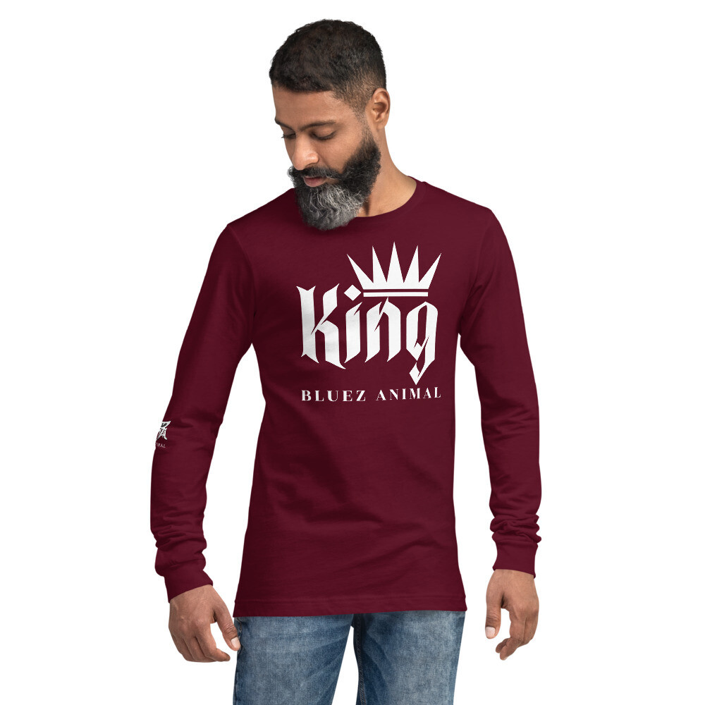 King Unisex Long Sleeve Tee