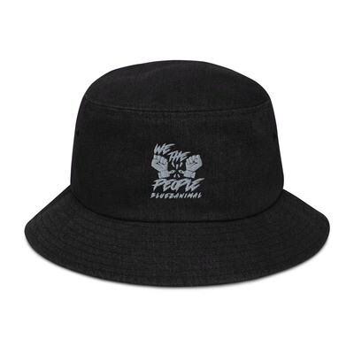 We The People Embroidered Denim bucket hat