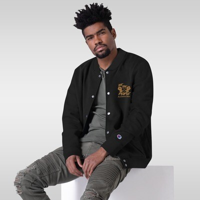 We The People Embroidered Champion Bomber Jacket