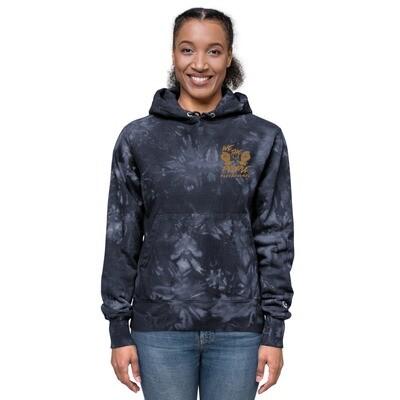 We The People Unisex Champion tie-dye hoodie