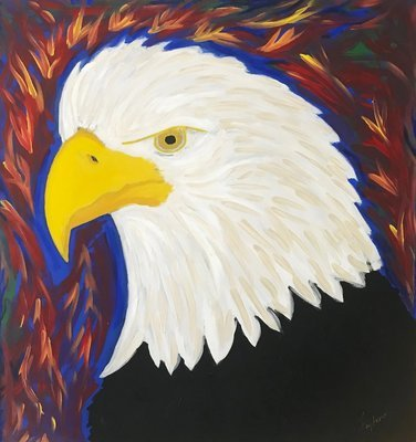 Eagle Head - Abstract Art Print