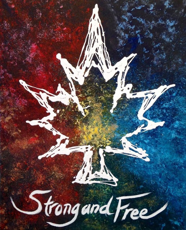 Canada Strong and Free - Abstract Art Print