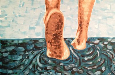Walking on Water - Abstract Art Print