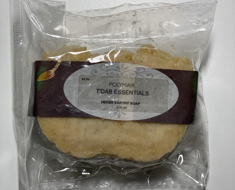 PolyMair T'Dab Essentials Herbs Earthy Soap
