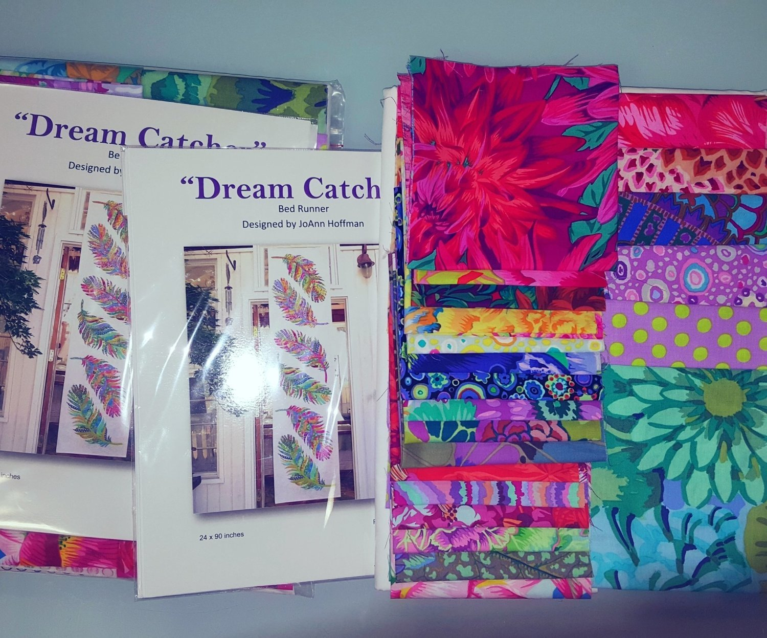 Dream Catcher Bed Runner Quilt Kit Using Kaffe Fassett Fabrics