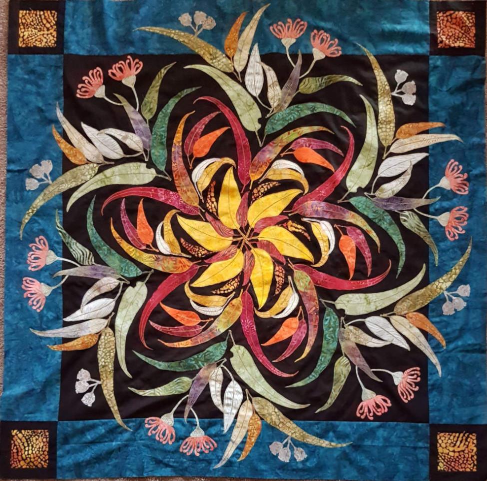 Australian Flora Mandala Flowering Gum Quilt pattern