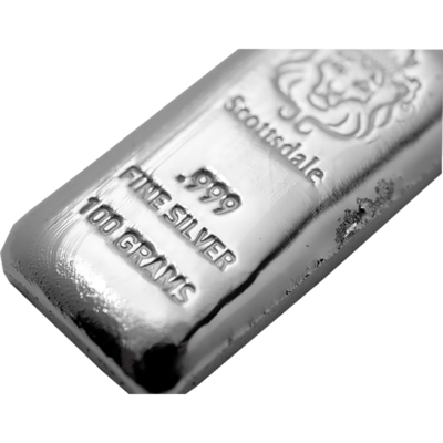 SCOTTSDALE 100g PURE .999 SILVER BULLION