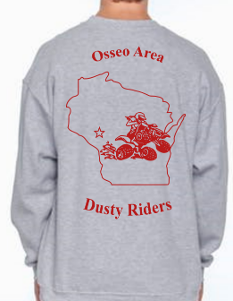 Sweatshirt (no Hood) - Osseo Area Dusty Riders - Price depends on selections