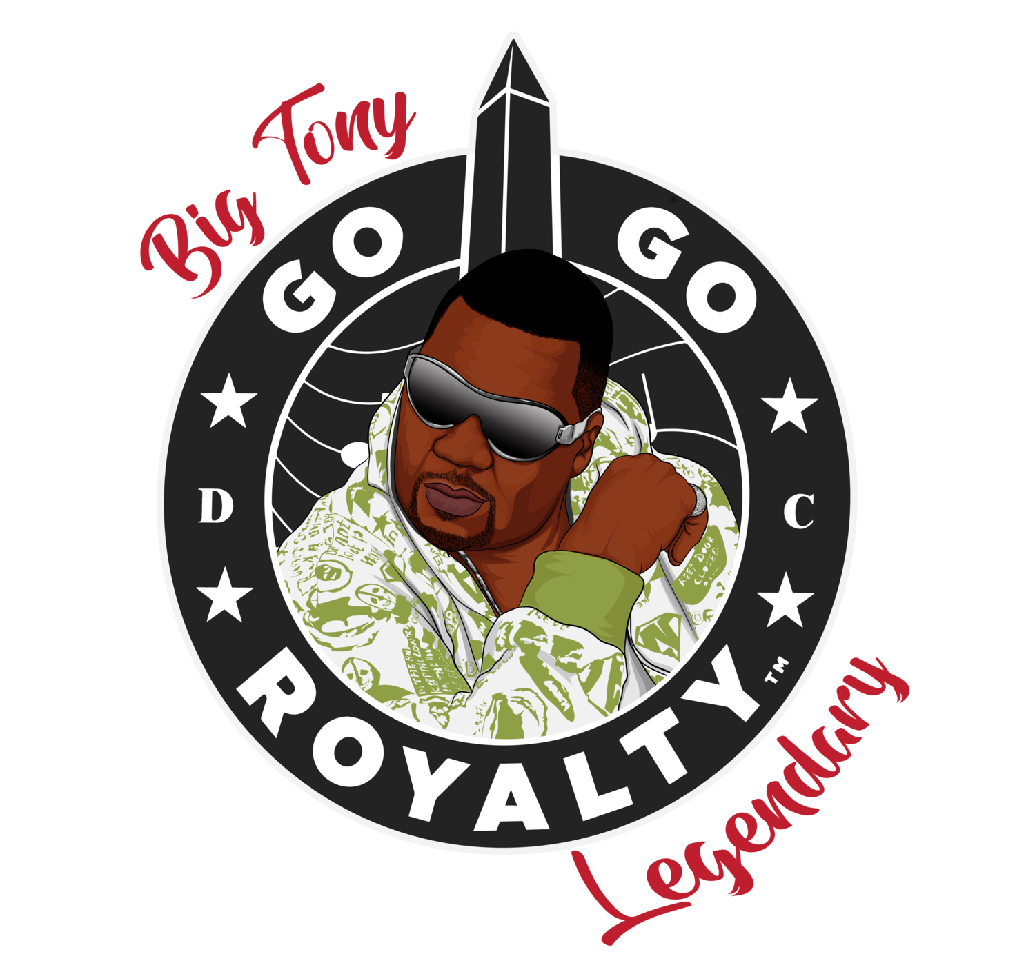 "Go-Go Royalty""Big Tony"" of Trouble Funk  Legendary 2020 Collection Series Short Sleeve T-shirts (Choose Your Color)"