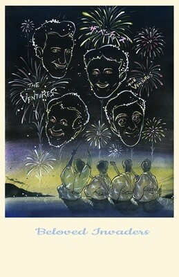 "The Ventures ""Beloved Invaders"" Art Poster 11 x 17"