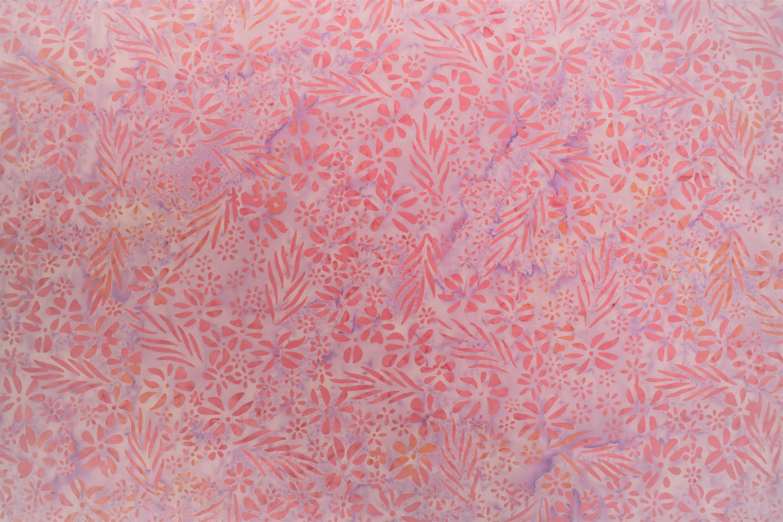 Pink Flowers Batik - 1/2m cut UN41E62B