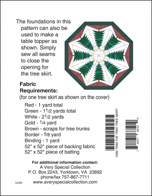 Trim the Tree - Tree Skirt Pattern