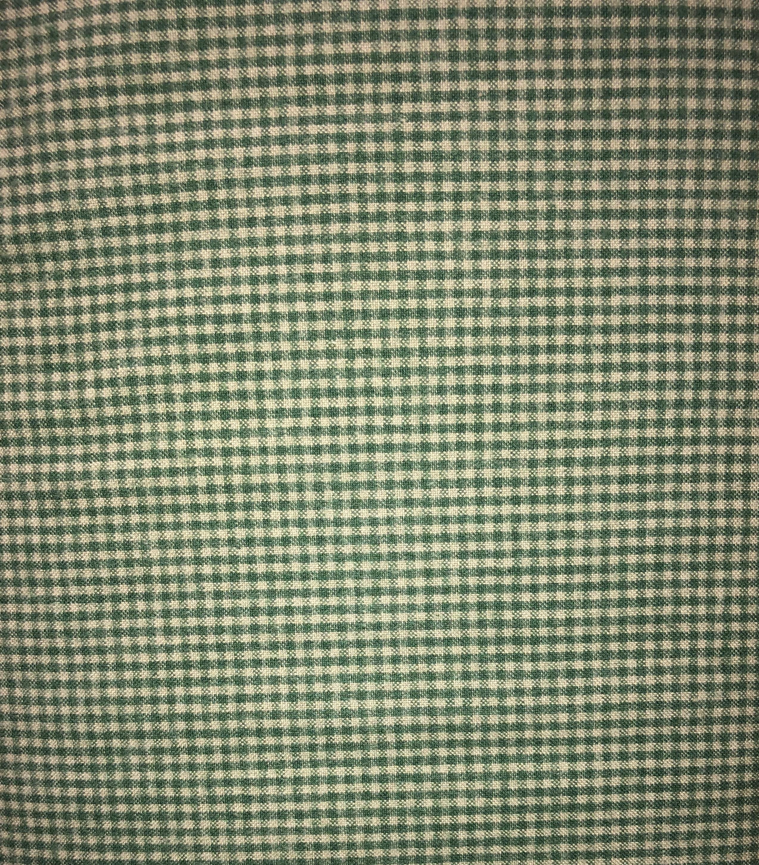 Yarn Dyed Flannel - Green Check - 1/2m cut 55166