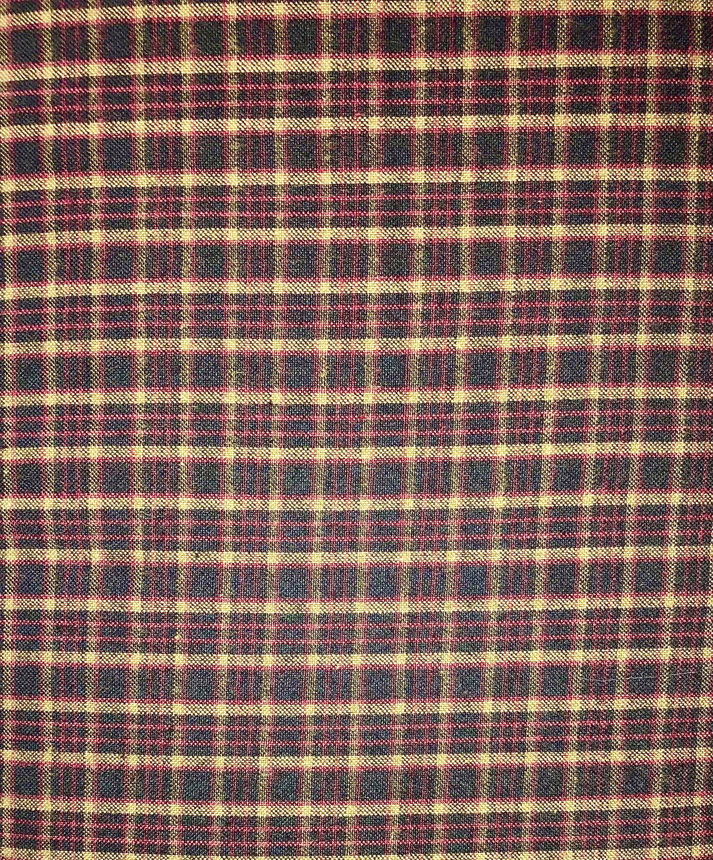 Yarn Dyed Flannel - Tan & Black Plaid - 1/2m cut 55171