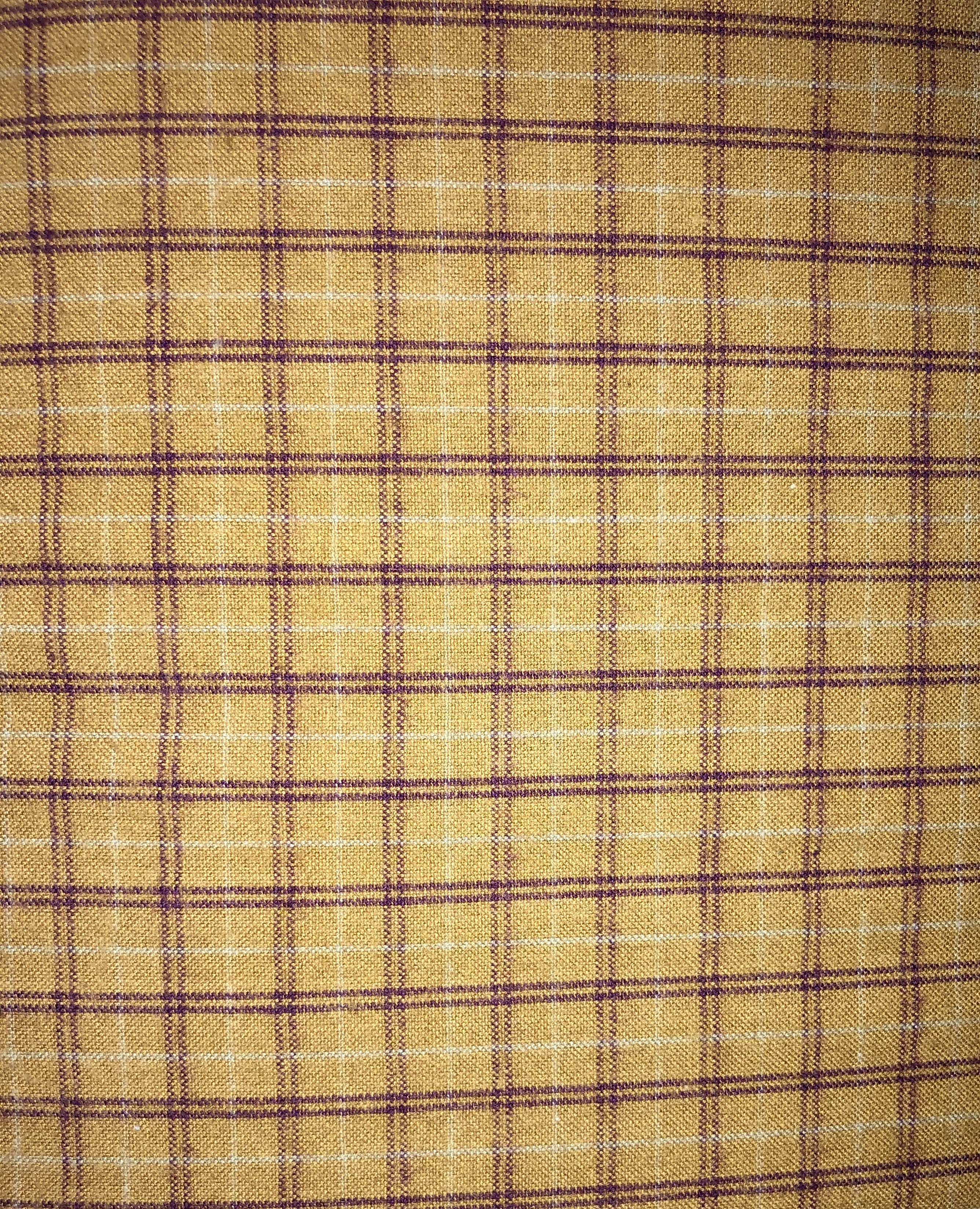 Yarn Dyed Flannel - Tan Plaid - 1/2m cut 55169