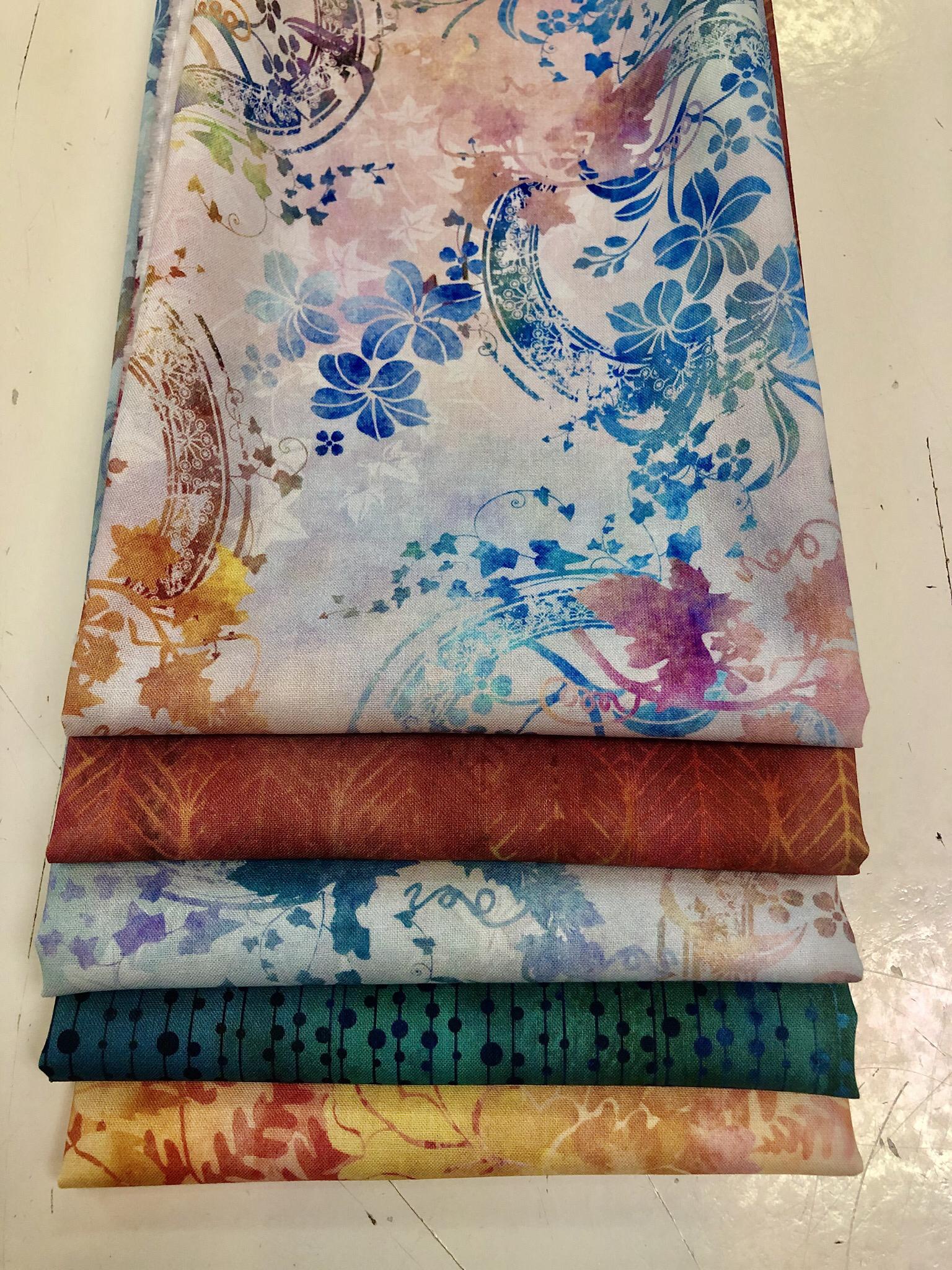 Garden Of Dreams - Peach/Blue - Fat Quarter Bundle 55472