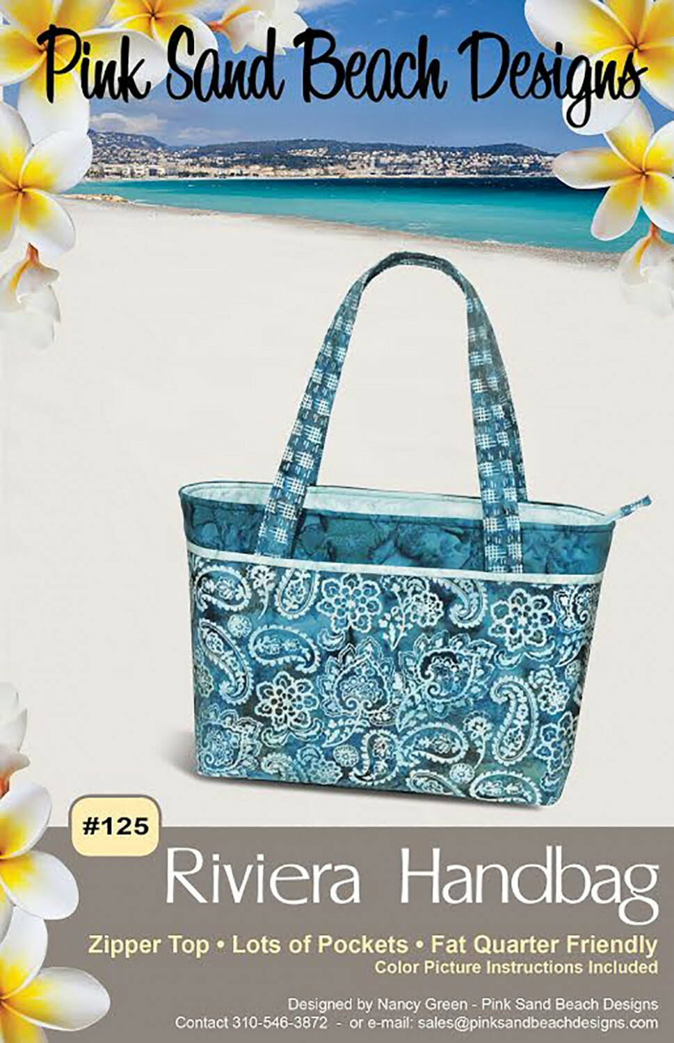 Riviera Tote Bag Pattern 55566