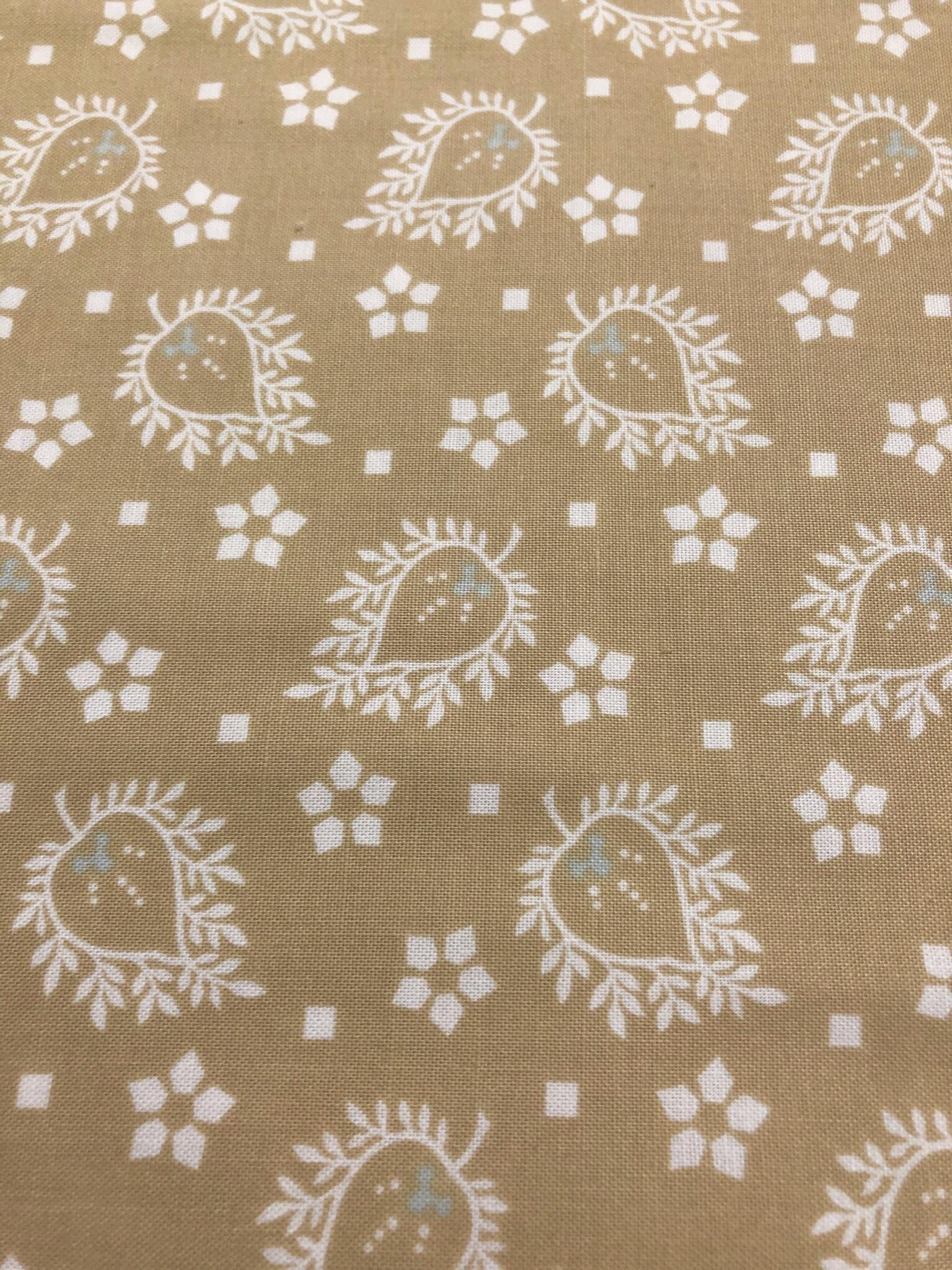 Brown/white Designs - 1/2m Cut 55609