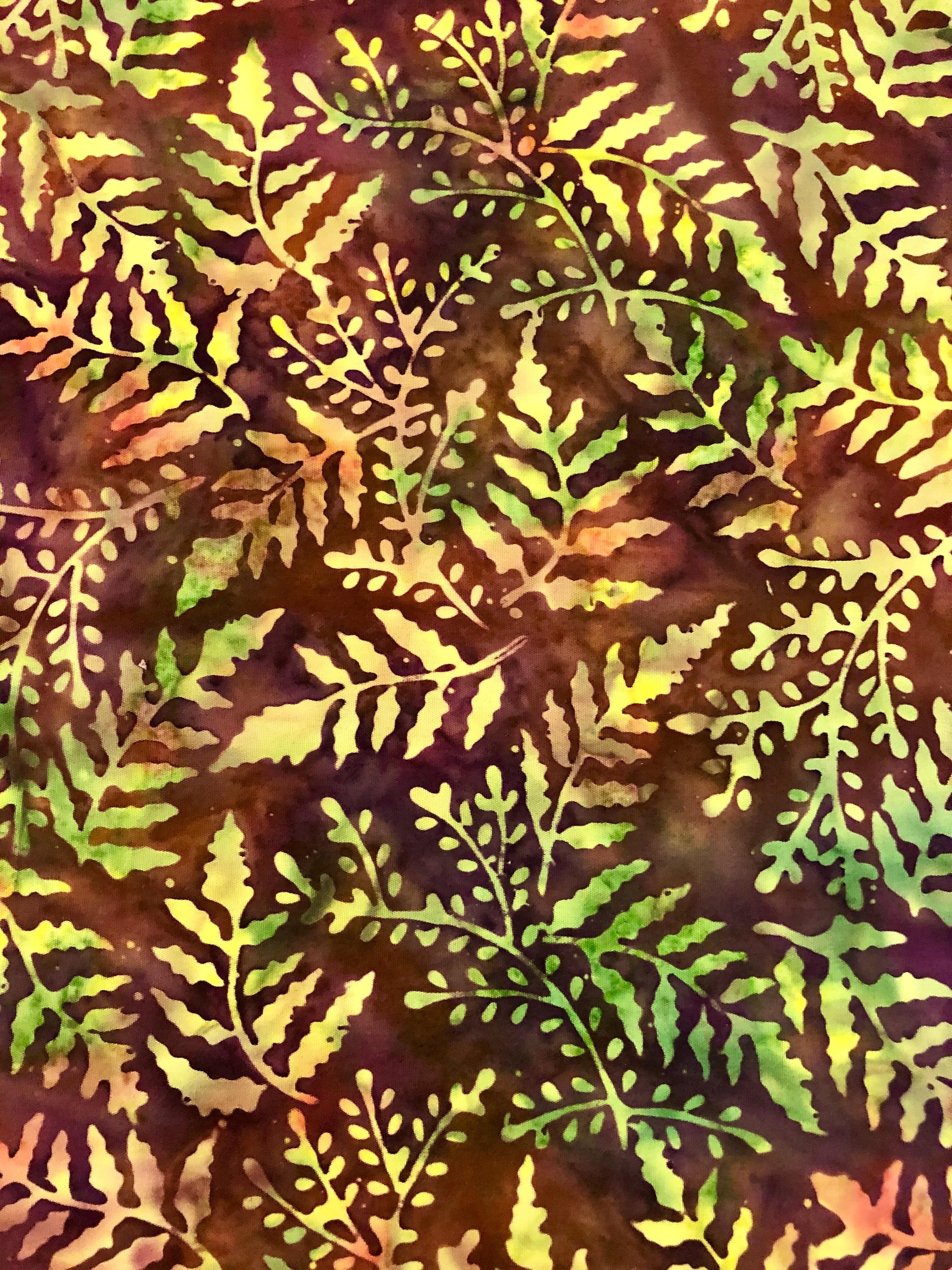 Citrine Delight - Large Ferns Batik - 1/2m cut 55740