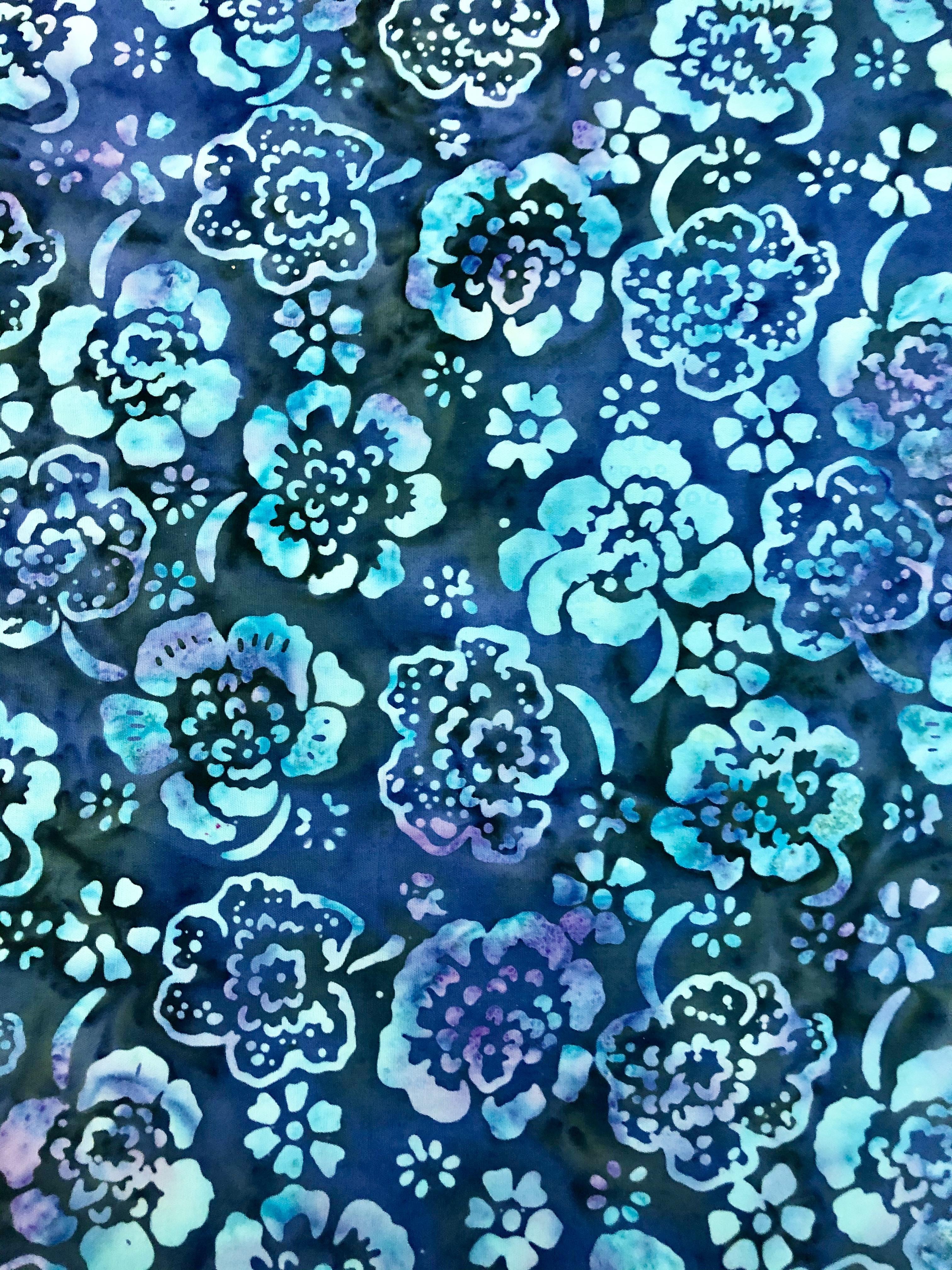 Rock Flower - Large Blooms Batik - 1/2m cut 55741