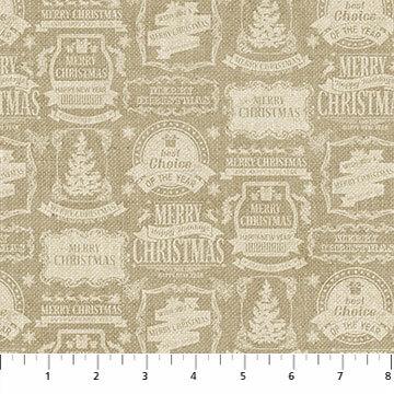 Vintage Christmas - Beige Tags - 1/2m cut 55785